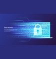 data security information protection access vector image vector image