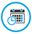 Date And Time Rounded Icon vector image vector image