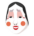 decorative face mask with bright make-up isolated vector image