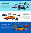 digital future car simple icons vector image vector image