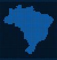 dot brazil map vector image