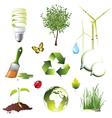ecology protection icons set vector image vector image