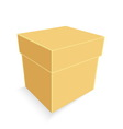 empty brown paper box isolated vector image vector image