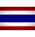 Flag of Thailand vector image vector image
