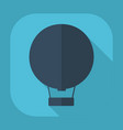 flat modern design with shadow hot air balloon vector image vector image
