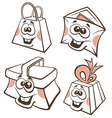 funny cartoon packing vector image