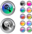 Global search multicolor round button vector image vector image