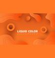 gradient orange abstract background with liquid vector image