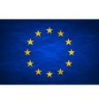Grunge Flag Of Europe on crumpled paper background vector image vector image