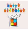 Happy Birthday with Paper Gift Box vector image vector image