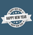 happy new year ribbon happy new year round white vector image vector image