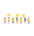 happy people are holding stars vector image vector image