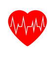heart cardiogram icon vector image