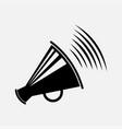 icon megaphone symbol message vector image