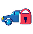 insurance car icon cartoon style vector image vector image