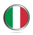 Italy flag button vector image