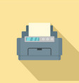 laser printer icon flat style vector image vector image