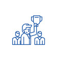 leader line icon concept leader flat vector image vector image