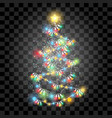 lighting garland christmas tree vector image