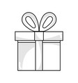 line present gift box with ribbon decoration vector image vector image