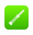 mini electronic hookah icon digital green vector image