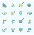 Mobile navigation icons flat line vector image vector image