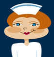nurse cartoon vector image