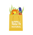 paper package with fresh healthy produce organic vector image vector image