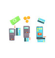 payment attributes set payment cash and vector image
