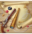 Pirate Accessories Composition vector image vector image