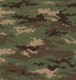 Pixel camouflage woodland green seamless pattern vector image vector image