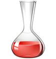 Red liquid in flask vector image vector image