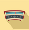 retro radio icon flat style vector image