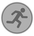 running man silver coin vector image vector image