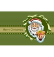 Santa Claus holding box with gift Christmas vector image vector image
