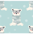 Seamless Merry Christmas patterns with polar bear vector image vector image