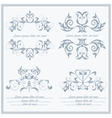Set elements flower logos Baroque style vector image