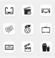 set of 9 editable cinema icons includes symbols vector image vector image