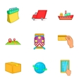 Shipment icons set cartoon style vector image vector image