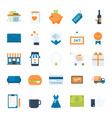shopping and commerce vector image