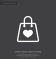 shopping bag premium icon vector image