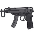 Small automatic gun vector image vector image