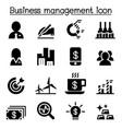 stock market stock exchange icon set vector image vector image