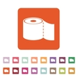 The toilet paper icon Bathroom symbol Flat vector image