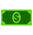 usd banknote flat icon symbol vector image