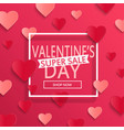valentines day super sale background vector image vector image