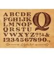 vintage alphabet kraft vector image vector image