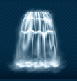 waterfall cascade isolated on transparent vector image vector image