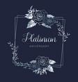 wedding platinum floral anniversary vector image