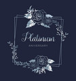 wedding platinum floral wedding anniversary vector image vector image